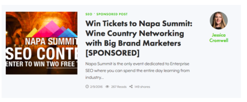 sponsored post screenshot